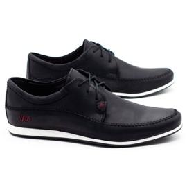 Polbut Leather men's shoes C22 black 2