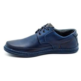 Polbut Leather men's shoes J44 navy blue 1