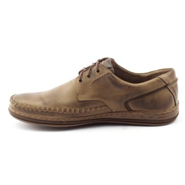 Polbut Leather men's shoes J44PŁ brown 1