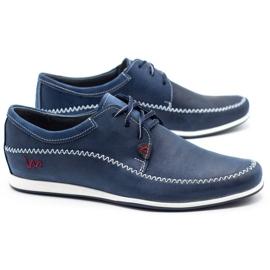 Polbut Leather men's shoes C22 navy blue 2