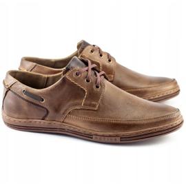 Polbut Leather men's shoes J44 Brown 2