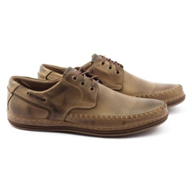 Polbut Leather men's shoes J44PŁ brown 2