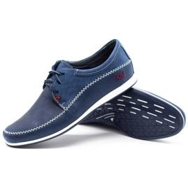 Polbut Leather men's shoes C22 navy blue 3
