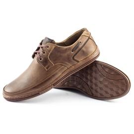 Polbut Leather men's shoes J44 Brown 3
