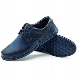 Polbut Leather men's shoes J44 navy blue 3