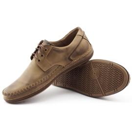 Polbut Leather men's shoes J44PŁ brown 3