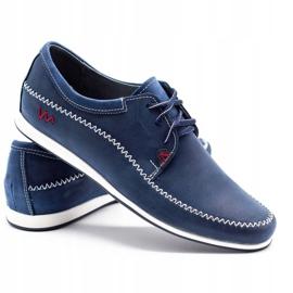 Polbut Leather men's shoes C22 navy blue 4