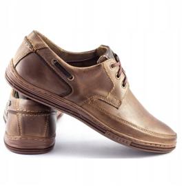 Polbut Leather men's shoes J44 Brown 4