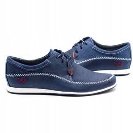 Polbut Leather men's shoes C22 navy blue 5