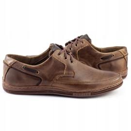 Polbut Leather men's shoes J44 Brown 5