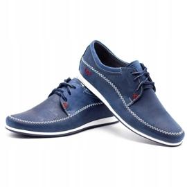 Polbut Leather men's shoes C22 navy blue 6