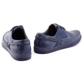 Polbut Leather men's shoes J44PŁ Navy blue 4