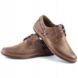 Polbut Leather men's shoes J44 Brown 6