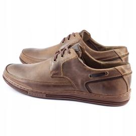 Polbut Leather men's shoes J44 Brown 7