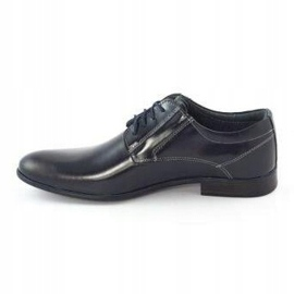 KOMODO Formal men's shoes 850 navy blue grain 1