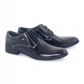 KOMODO Formal men's shoes 850 navy blue grain 2