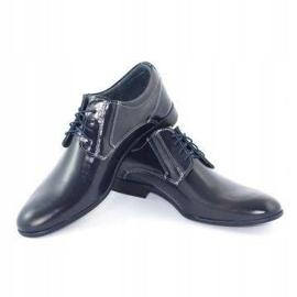 KOMODO Formal men's shoes 850 navy blue grain 3