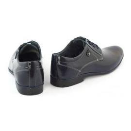 KOMODO Formal men's shoes 850 navy blue grain 4