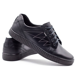 Polbut Casual men's shoes J66 black with silver multicolored 4