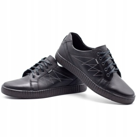 Polbut Casual men's shoes J66 black with silver multicolored 6