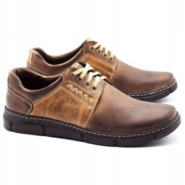 Joker Men's leather shoes 506 brown 2