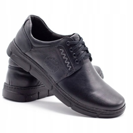 Joker Black men's leather shoes 506 4