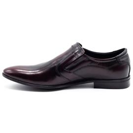 Lukas Men's formal slip-on shoes 284 cherry red 1