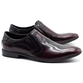 Lukas Men's formal slip-on shoes 284 cherry red 2