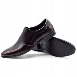 Lukas Men's formal slip-on shoes 284 cherry red 3