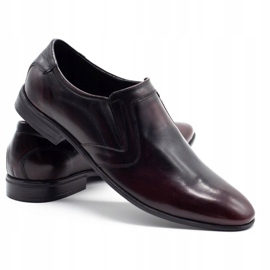 Lukas Men's formal slip-on shoes 284 cherry red 4