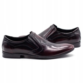 Lukas Men's formal slip-on shoes 284 cherry red 5