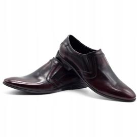 Lukas Men's formal slip-on shoes 284 cherry red 6