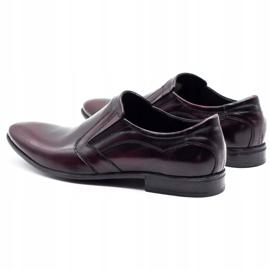 Lukas Men's formal slip-on shoes 284 cherry red 7