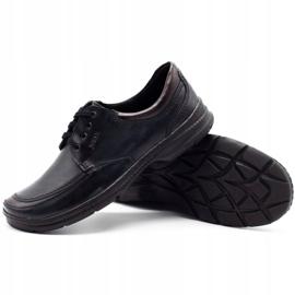 Joker Black men's leather shoes 936 3