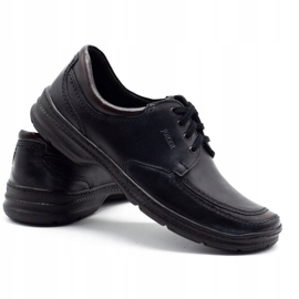 Joker Black men's leather shoes 936 4