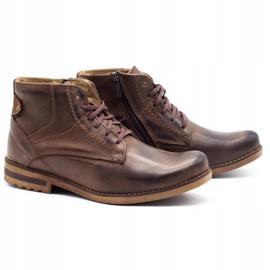 KOMODO Brown men's winter boots 731K 2