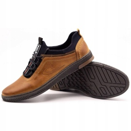 Polbut Men's casual leather shoes K24 camel brown 5