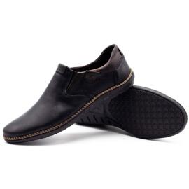 Polbut Black men's shoes 401E 4