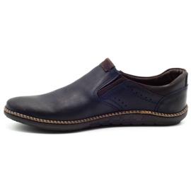 Polbut Men's shoes 401E navy blue 1