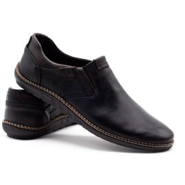 Polbut Black men's shoes 401E 5