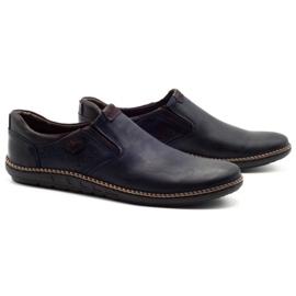 Polbut Men's shoes 401E navy blue 2