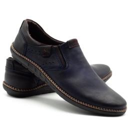 Polbut Men's shoes 401E navy blue 4