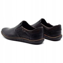 Polbut Black men's shoes 401E 8