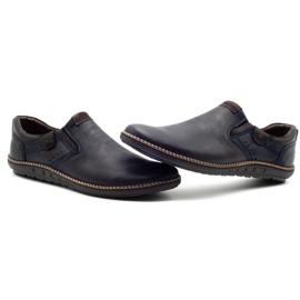 Polbut Men's shoes 401E navy blue 6