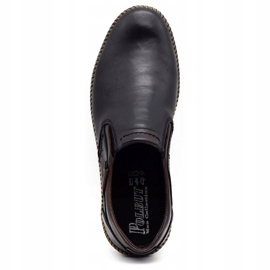 Polbut Black men's shoes 401E 1