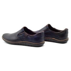 Polbut Men's shoes 401E navy blue 7
