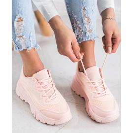 SHELOVET Powder sneakers pink 4