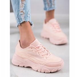 SHELOVET Powder sneakers pink 3