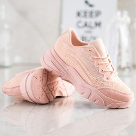 SHELOVET Powder sneakers pink 1