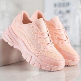SHELOVET Powder sneakers pink 2